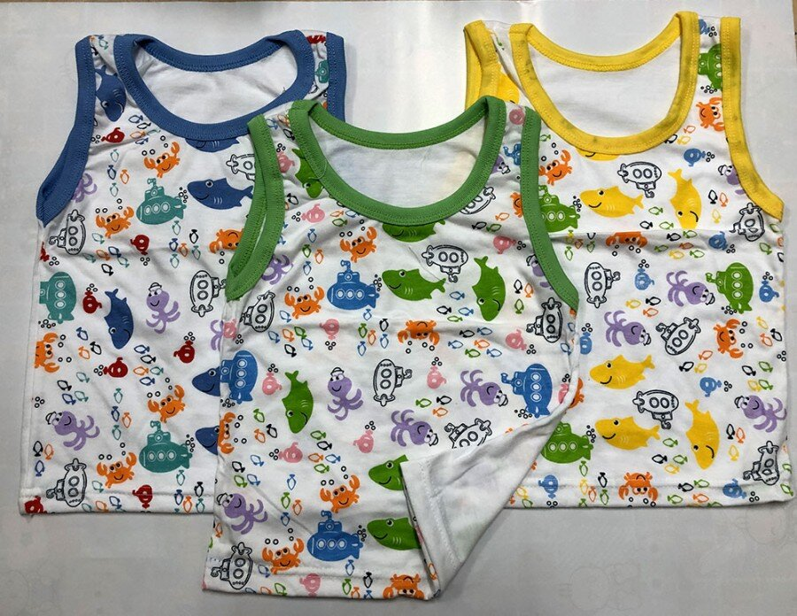Baju Atasan Singlet Anak Fish M (Sablon) 20100103