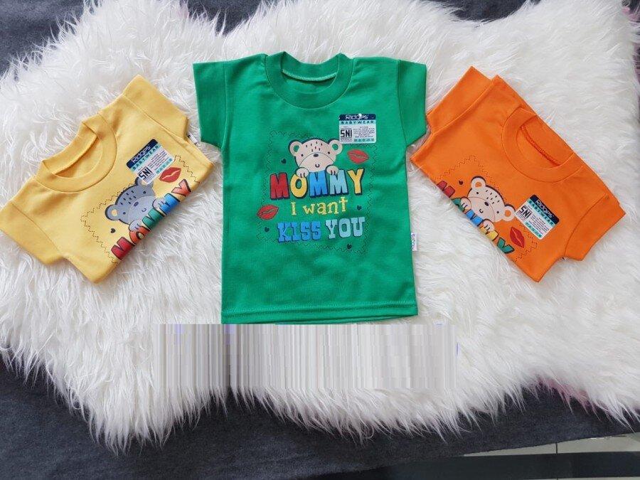 Atasan Kaos Anak Ridges Mommy I Want Kiss You XL 20100097