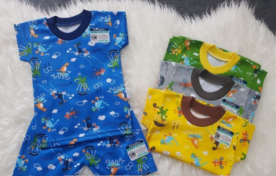 Baju Atasan Kaos Anak Ridges Dino Parasut L 20110039 (Atasan Saja)