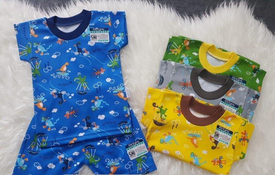 Baju Atasan Kaos Anak Ridges Dino Parasut XL 20110040 (Atasan Saja)