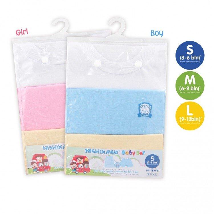 Setelan Baju Bayi Buntung / Nishikawa Baby Set Buntung Size M