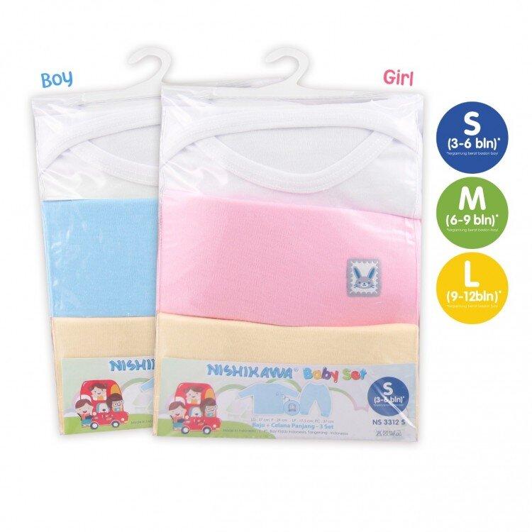 Setelan Baju Bayi Panjang / Nishikawa Baby Set Panjang Size M