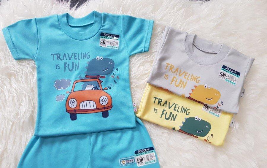 Baju Atasan Kaos Anak Ridges Travelling is Fun L 20120091 (Atasan Saja)
