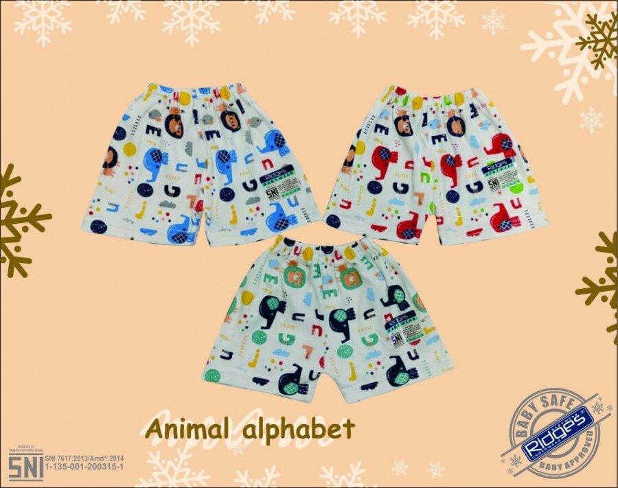 Celana Pendek Anak Ridges Animal Alphabet XL 20120044