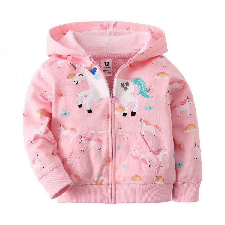 Jaket Import Anak Poni Rainbow Pink 21010019