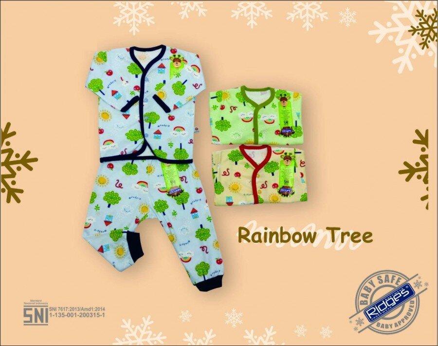Setelan Baju Baby Panjang / Piyama / Baju Tidur Bayi Ridges Rainbow Tree M 20120093