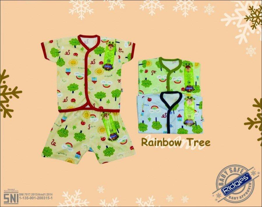 Setelan Baju Baby Pendek / Baju Santai Bayi Ridges Rainbow Tree L 20120096