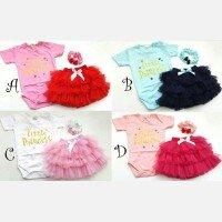Setelan Baby Cewek Little Princess  Jumper Tutu + Bandana 21010052