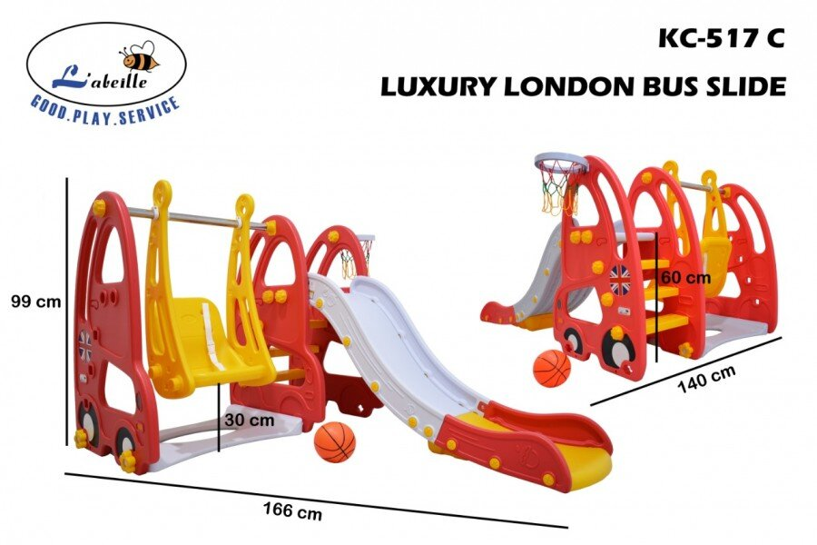 Mainan Perosotan Anak Luxury London Bus / Otto Slide