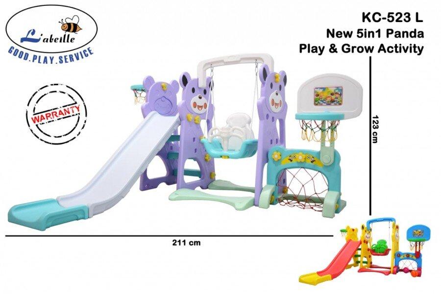Mainan Perosotan Anak New 5 in 1 Panda Play and Grow Activity
