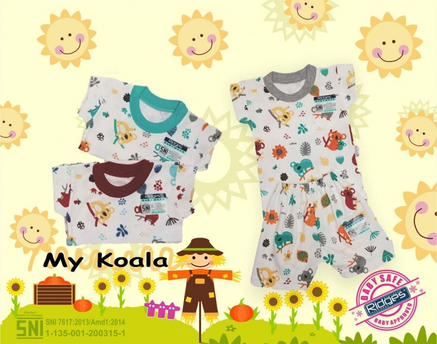 Baju Setelan Kaos Anak Ridges My Koala M 21040041