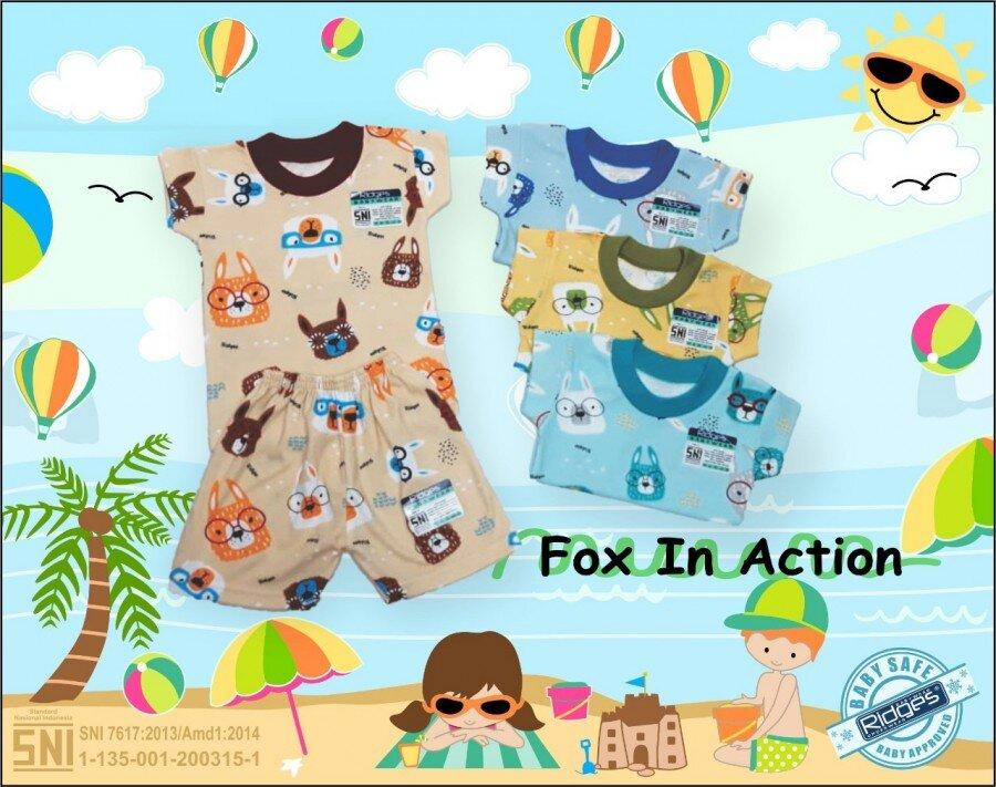 Baju Setelan Kaos Anak Ridges Fox in Action L 21030061