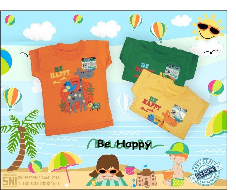 Atasan Kaos Anak Ridges Be Happy L 21030034