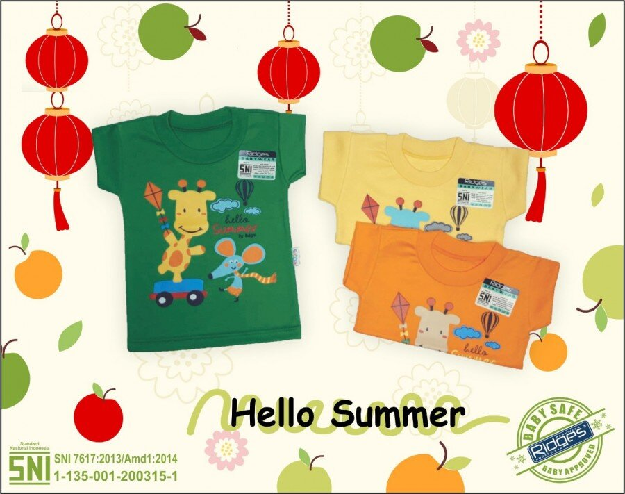 Atasan Kaos Anak Ridges Hello Summer M 21030006