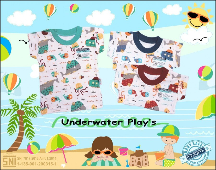 Baju Atasan Kaos Anak Ridges Underwater Plays L 21040008
