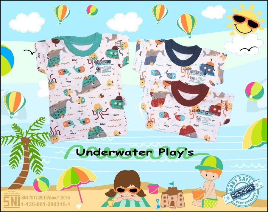Baju Atasan Kaos Anak Ridges Underwater Plays M 21040007