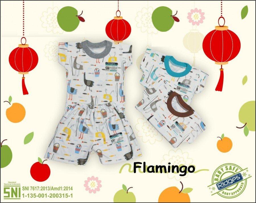 Baju Atasan Kaos Anak Ridges Flamingo M 21020052 (Atasan Saja)
