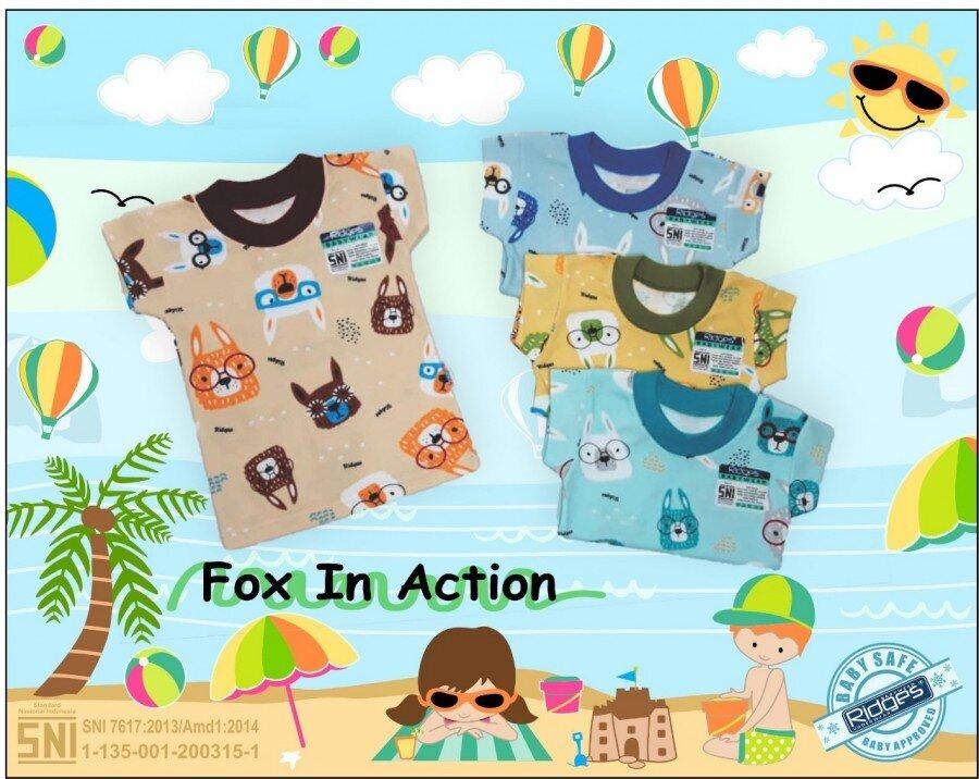 Baju Atasan Kaos Anak Ridges Fox in Action XL 21030074