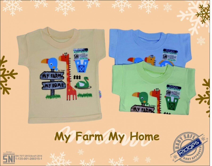 Baju Atasan Kaos Anak Ridges My Farm My Home M 21020090