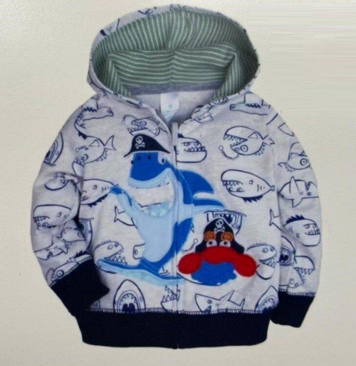 Jaket Import Anak Shark Topi Abu 21040017
