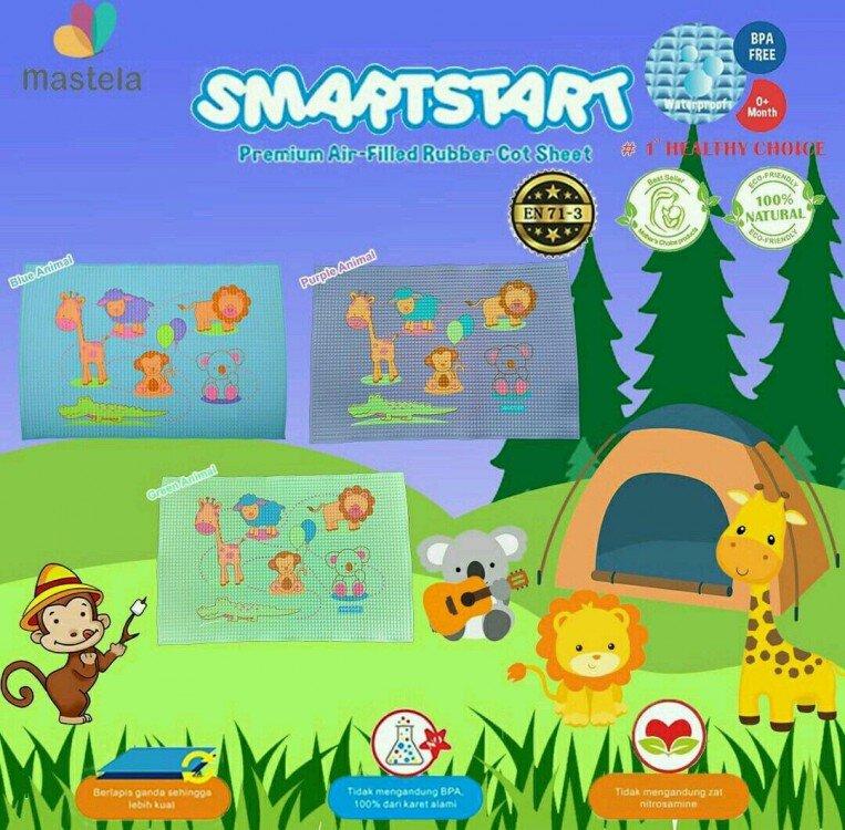 Perlak Bayi SmartStart Premium Air - Filled Rubber Cot Sheet Animals 21040061
