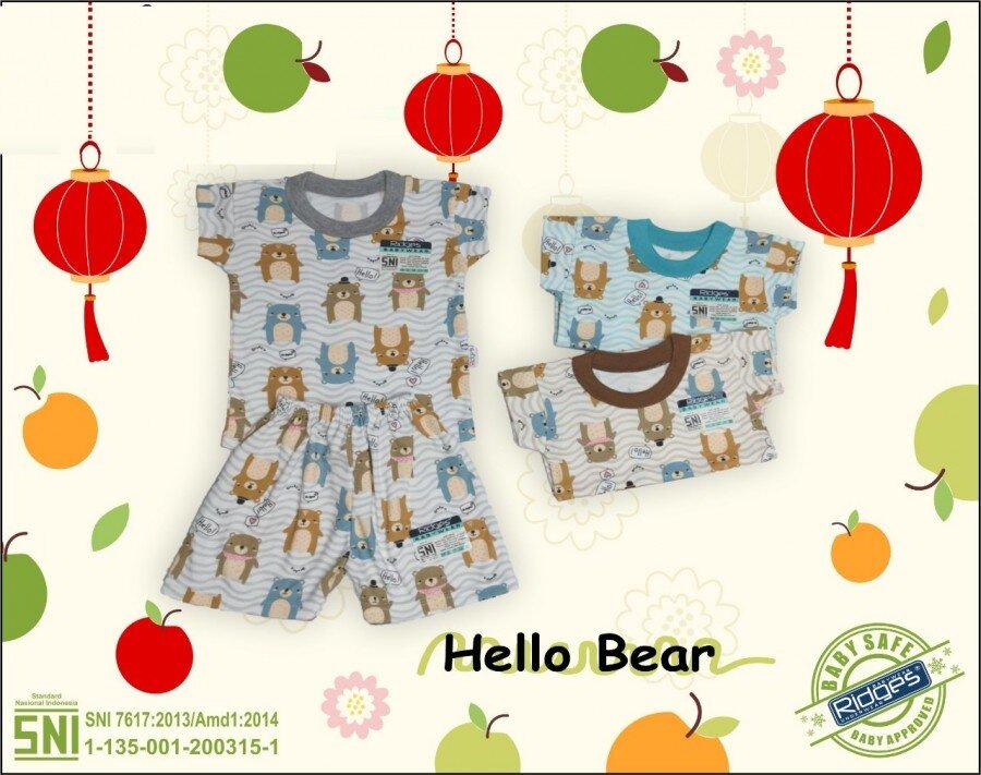 Baju Atasan Kaos Anak Ridges Hello Bear XL 21020018 (Atasan Saja)