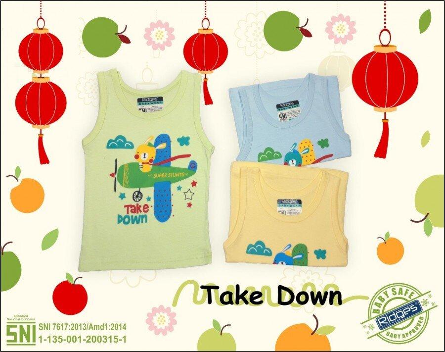 Baju Atasan Singlet Anak Ridges Airplane Take Down M 21020110