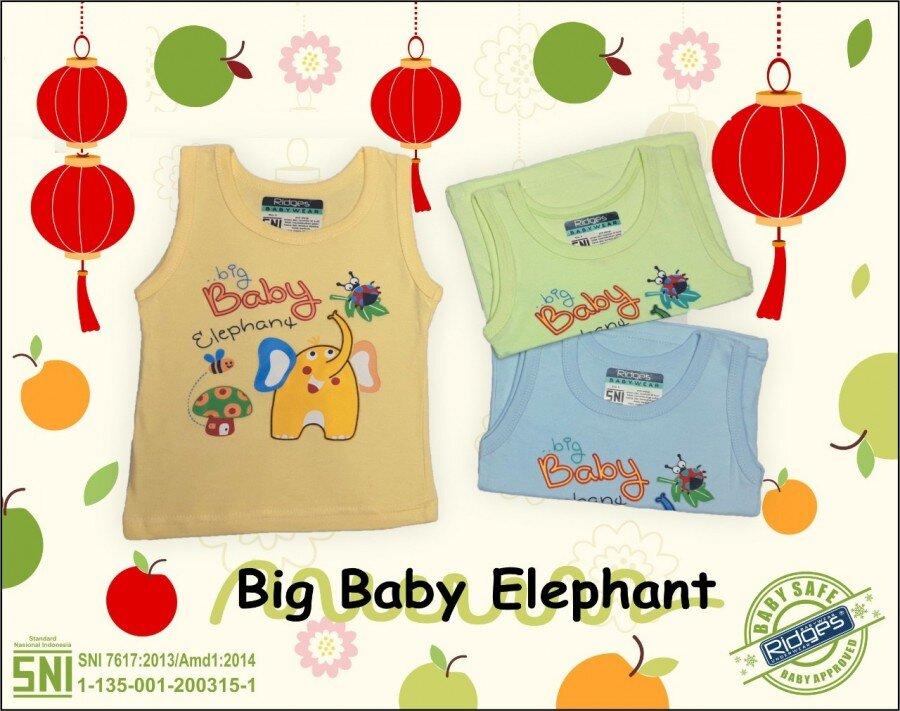 Baju Atasan Singlet Anak Ridges Big Baby Elephant XL 21020108