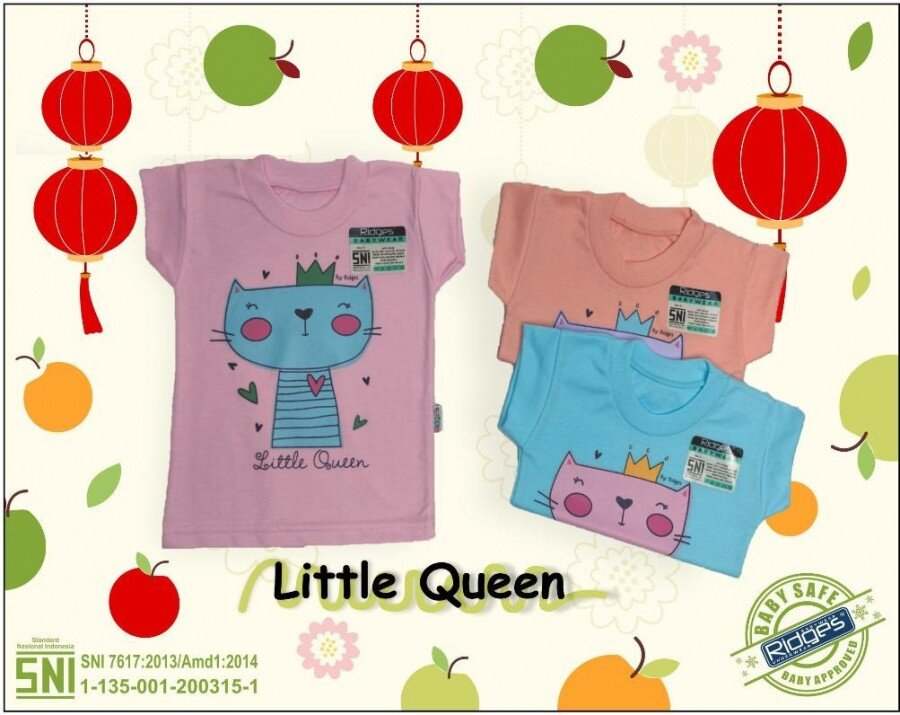 Baju Atasan Kaos Anak Ridges Little Queen S 21020093