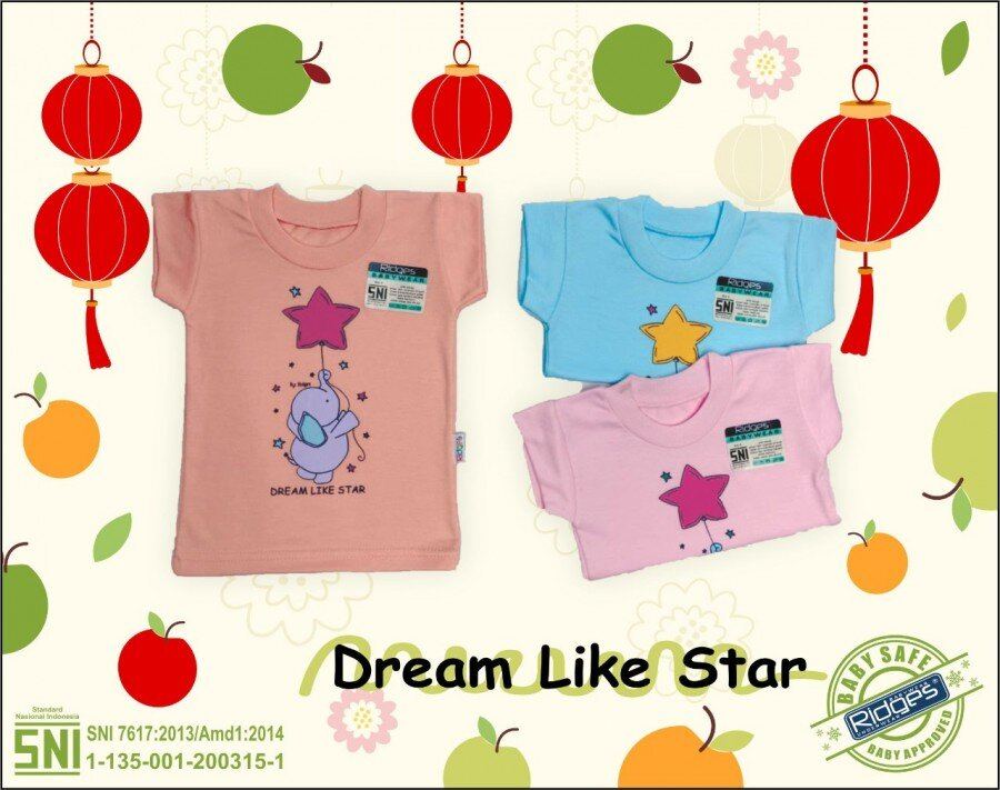 Baju Atasan Kaos Anak Ridges Dream Like Star S 21020097