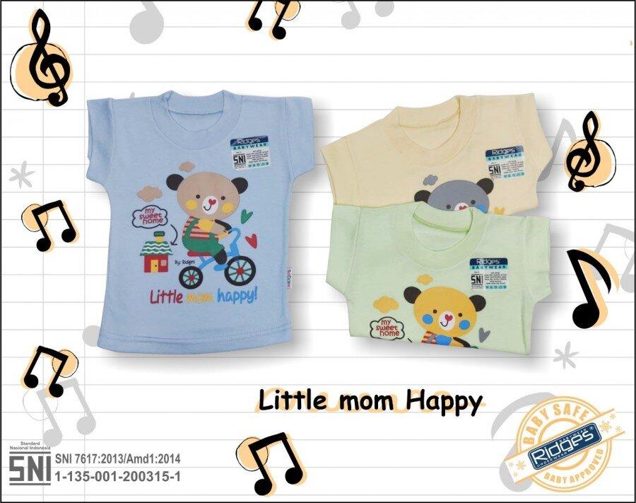 Baju Atasan Kaos Anak Ridges Little Mom Happy XL 21010039
