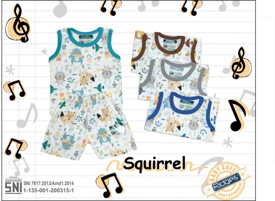 Baju Atasan Singlet Anak Ridges Squirrel S 21020043 (Atasannya Saja)