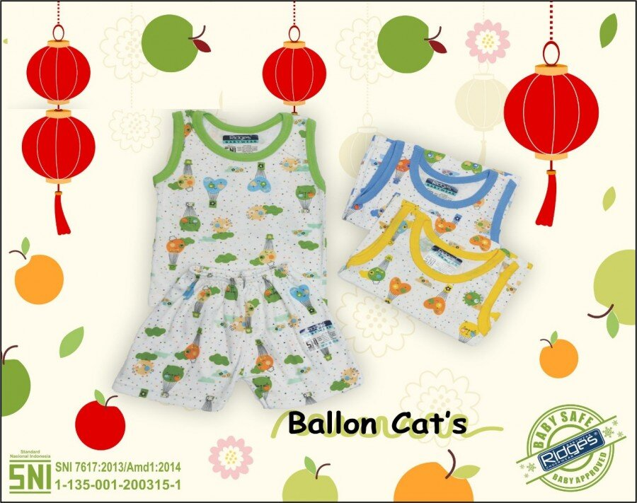Celana Pendek Anak Ridges Ballon Cats S 21020035 (Celananya Saja)
