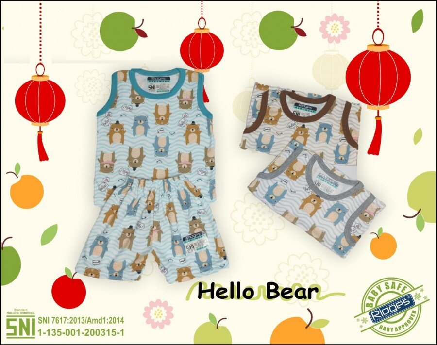Baju Atasan Singlet Anak Ridges Hello Bear S 21020023 (Atasannya Saja)