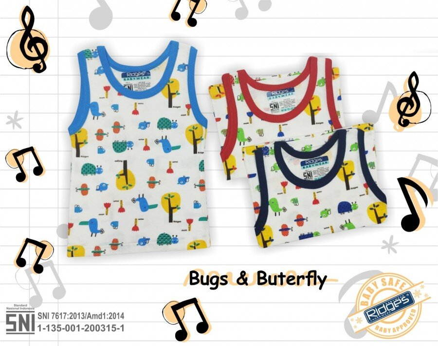 Atasan Singlet Anak Ridges Bugs & Butterfly S 21010032