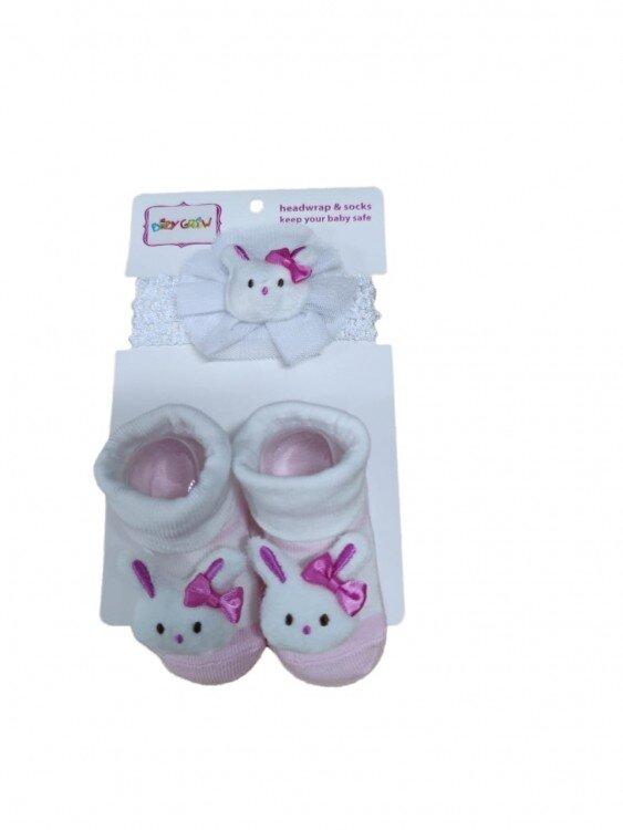Kaos Kaki + Bandana Set Rabbit Putih 21050008