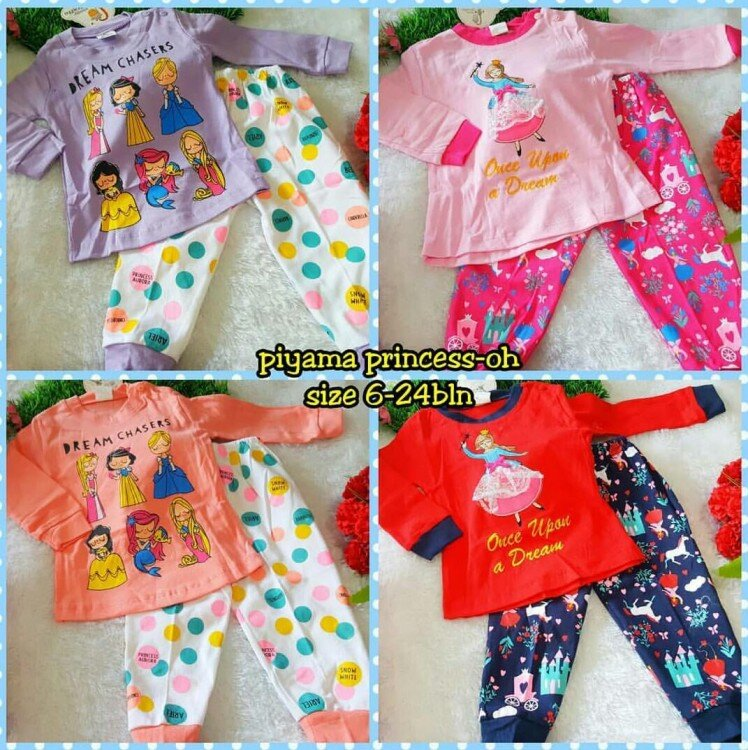 Setelan Baju Tidur / Piyama Bayi Princess 21060057