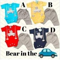 Baju Setelan Bayi Laki-laki Jumper Bear In The Car 21060054