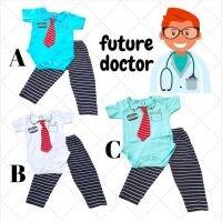 Baju Setelan Bayi Laki-laki Jumper Hello Future Doctor 21060058