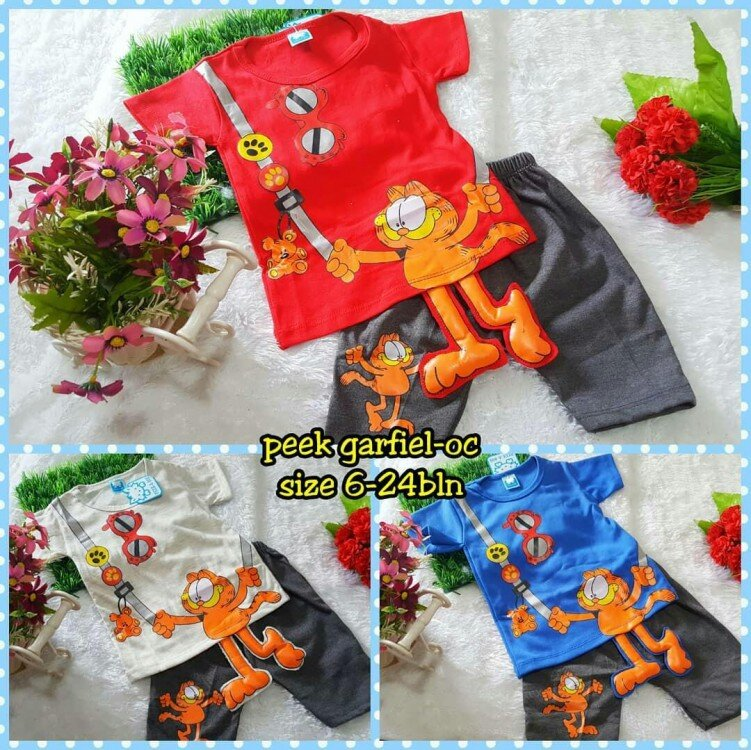 Baju Setelan Bayi Laki-laki Garfield 21060055